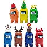Among Us Juguetes de juego de muñecas de animales de Navidad, 7PCS Hot Game Animal Dolls Toys Home Car Decoración Regalos par
