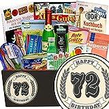 72 Zahl Klassik | Spezialitätenset | Geschenkbox | 72 Zahl Klassik | INKL Markenbuch | Ostalgie Set | Geschenke zum 72igsten Geburtstag | mit Schlagersüßtafel, Pfeffi Stangen und mehr