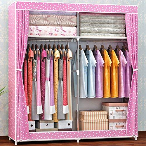 MMM& Armoires simples Armoire en acier Tissu Armoire Armoire d'épaississement Assemblage Pliant Admission (couleur : # 3)