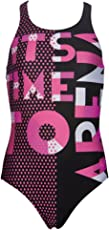 Arena 000106 G Dashboard Jr Polyester Swimsuit (Size 28, Black/Fresia Rose)