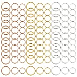 270 Piezas de Bobina de Pelo Anillos de Trenza de trenzado de pelo de anillos de pelo aros clips 3 colores,3 size