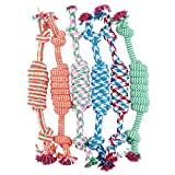 Kingko® Pet Toys for Dogs Weave String Puppy Dog Pet Toy Cotton Braided Bone Rope Chew Knot 1PC