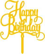 Omkraft Mirror Acrylic Gold Cake Topper