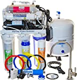 iSpring RCC1UP-AK - WQA GOLD SEAL - USA Legendary - 7-Stage 100GPD Reverse Osmosis Water Filter System With Real (not Permeate) Booster Pump (110v & 220v compatible), Alkaline Minerals and 11W Flow-sensor UV sanitation stages - 2:1 Waste ratio - ideal for Low Water Pressure Homes - ideal for Well Water
