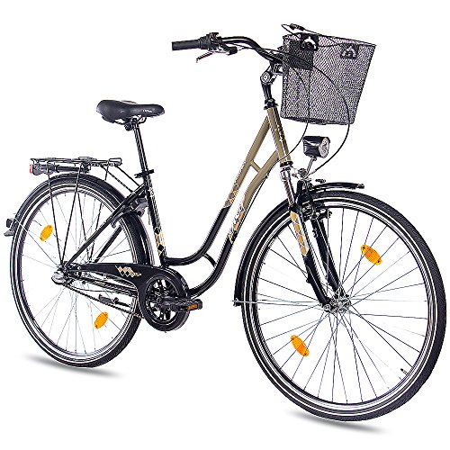 KCP 28 Zoll Cityrad Damenrad TOURY mit 3G Shimano Nexus & Rücktritt nach StVZO schwarz Oliv