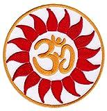 Om Mandala Aufnäher Aufbügler Patch Hindu Namaste Boho-Chic Indien Goa Yoga (Klein )