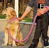 Heavy Duty Hund Geflochten Halsband und Leine–Gear Martingal verstellbar choke-style Hund Halsband –, die Solide handgefertigt Seil Leine