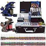 Solong Tattoo® Profi Komplett Tattoomaschine Set 2 Tattoo Maschine Guns 54 Farben/Inks Tinte Nadel Tattoo maschine...