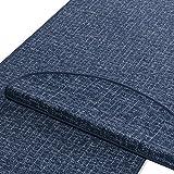 Stufenmatten | Blau gekästeltes Muster | Qualitätsprodukt aus Deutschland | Gut Siegel | Kombinierbar mit Läufer | 65x23,5 cm | halbrund | 15er Set