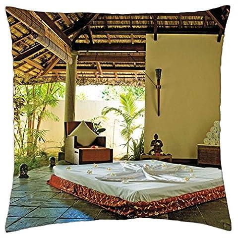 Zen Paradise–Spa Yoga Retreat–Couvre-lit Taie d'oreiller Coque (40,6x 40,6cm)