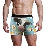 XiangHeFu Slip da Boxer da Uomo Mutande Elasticizzate da Mucca Carino Cartone Animato