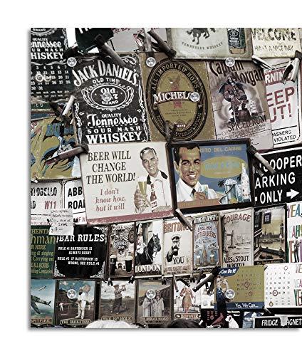 Cuadros Lifestyle Designer-Garderobe   Wandgarderobe   Flurgarderobe   Garderobenhaken   Garderobenpaneel   Urban Look   Kleiderständer   Kleiderablage   Garderobenständer, Größe:100x125 (Captain Jack Morgan)