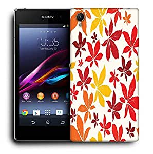 Snoogg Colorful Petals Designer Protective Phone Back Case Cover For Sony Xperia Z5