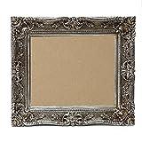 Starline Großer Barock Bilderrahmen 75x85 / 50x60 cm Silber (Antik) Im Retro-Vintage Look. In Handarbeit hergestellt. (Foto-Rahmen) Idealer Gemälde-Rahmen für Ausstellungen Star-LINE®
