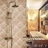 RY-Alle Kupfer regen kit Dusche unter aus dem Wasserbad Wasserhahn warmes und kaltes kontinentales Sepia