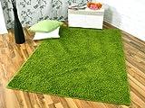 Shaggy Nova Hochflor Langflor Teppich Grün in 24 Größen