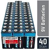 ANSMANN 9V Block Batterien 40 Stück - Alkaline 9 Volt Blockbatterie ideal für Bewegungsmelder, Messgerät, Spielzeug, Fernbedienung, Fernsteuerung, Detektoren - umweltschonende Verpackung