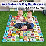 Coroid Baby mat Waterproof Double Sided Mat Kids Infant Crawling Play Mat Carpet
