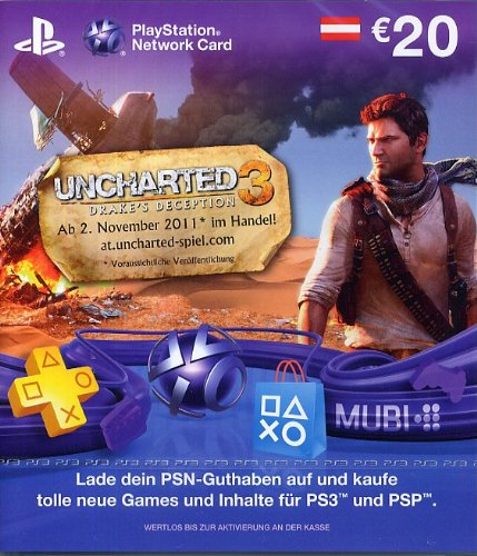 PlayStation Network Card - 20 Euro - (Livecard PS3/PSP) (Österreich) - Uncharted Edition