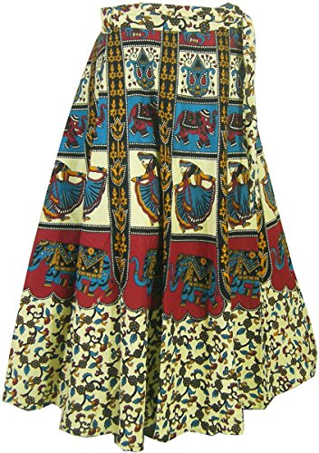Indien Kleidung Baumwoll Rock Designer Wickelrock Kleider Türkis