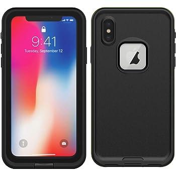 Banath Custodia Impermeabile iPhone XS Max, IP68 Certificato Waterproof Case Cover 360 Gradi Impermeabile Antiurto Caso Full Protezione Custodia Protettiva per iPhone XS Max - Nero