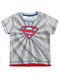 Tee shirt manches courtes bébé garçon Logo Superman Gris de 3 à 24mois