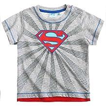 Camiseta de manga corta para bebé con el logo de Superman, color gris, de 3 a 24 meses