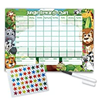 Funky Monkey House Re-usable Reward Chart, (including FREE Star Stickers and Pen) -Jungle Design