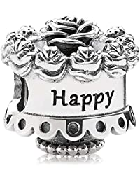 Pandora Women's 925 Sterling Silver Happy Birthday Bead