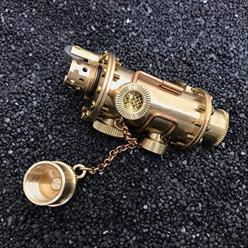 Vintage Messing Steampunk Petroleumfeuerzeug Retro Feuerzeug 90 * 42mm 190g