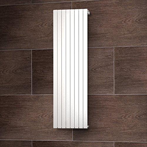 Wohnraum-Heizkörper Rom, Mittelanschluss, 200x61 cm, 1502 Watt Leistung, alpin-weiß, Design-Heizkörper für Zweirohrsysteme