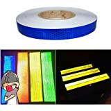 Tuqiang/® Reflective Tape Self-Adhesive Tape for Bicycles Babys Car Mini-Scooters High Visibilty Reflective Safety Tape 3M/×2.5CM Blue 1pcs