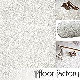 floor factory Hochflor Shaggy Teppich Loca Creme/weiß 120x170cm - Flauschiger und günstiger Langflorteppich