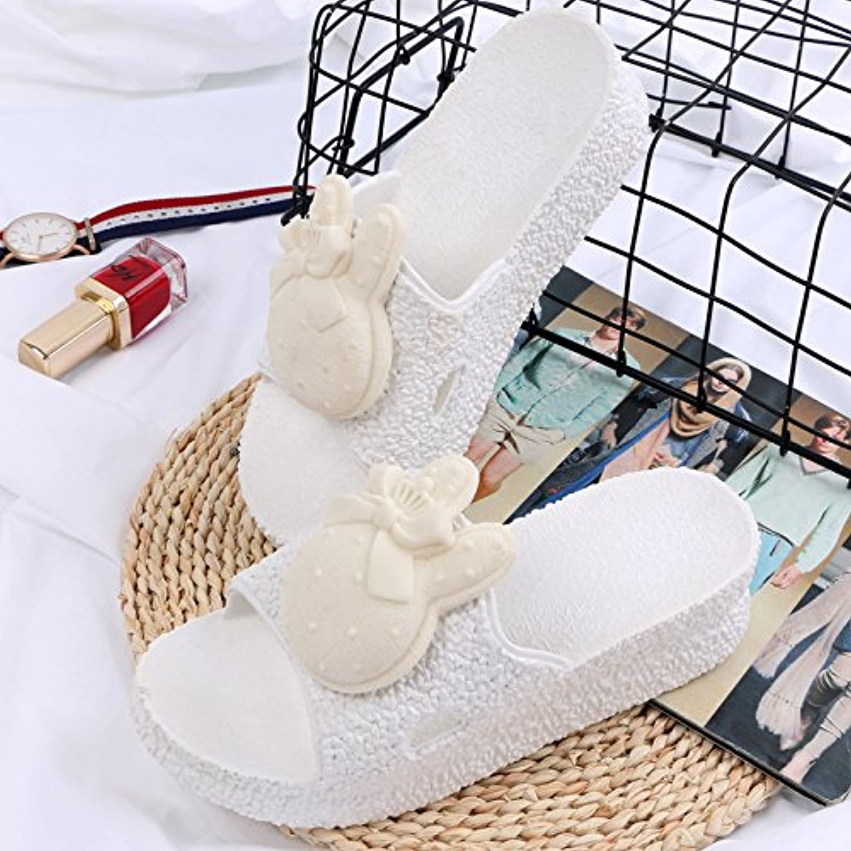 Donyyyy Zapatillas, Zapatillas y Zapatillas en el Baño Dentro y Fuera del Cuarto de Baño,Blanca,38 -