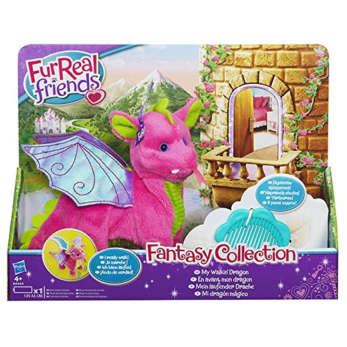 Fur Real Friends Furreal Friends Soft Toy - Electronic Plush Walking Dragon - Fantasy Collection Skyheart Pet