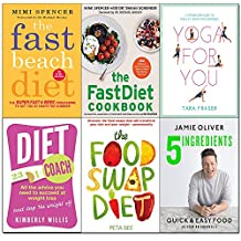 5 ingredients [hardcover], fast beach diet, fastdiet cookbook, yoga for you, diet coach, food swap diet 6 books collection set