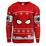 Marvel Official Spiderman Christmas Jumper / Sweater - Medium
