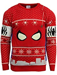 Marvel Official Spiderman Christmas Jumper/Ugly Sweater