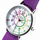 EasyRead time teacher ERW-COL-PTArmbanduhr Past-To, Violett (2 Farben verfügbar)