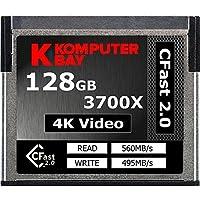 Komputerbay Professional 3700x 128GB CFast 2.0 Karte (bis zu 560MB / s Lesen und bis zu 495 MB / s Schreiben)