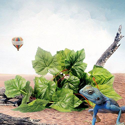 2m-Vigne-Feuilles-Vert-Plante-Artificiel-Ornement-pour-Reptile-Terrarium-Vivarium