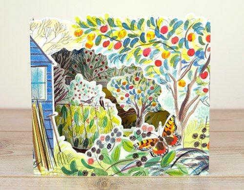 Kulissen-Karte-Gartenhaus mit Obstwiese- Designed by Emily Sutton for ART ANGELS