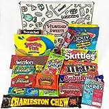 Confezione Media di Snack Americani | Caramelle e Cioccolato per Idea Regalo di Natale e Compleanno | Vasta Gamma tra cui Jolly Rancher M&Ms Skittles Reeses | 18 Pezzi in Confezione Vintage di Cartone