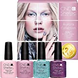 CND Shellac UV/LED Power Polish Aurora Collection 7,3 ml – 4 Stück