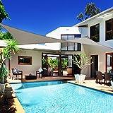 casa pura Voile d'ombrage Rectangle Gris | résistante, épaisse | imperméable, Lavable en Machine | 5x7m