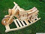 Schaukelmotorrad Laufrad aus Massivholz verbesserte Lauffläche Schaukelpferd