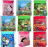 #9: Gifts Online Cartoon Printed Kids Haversack - Pack Of 12
