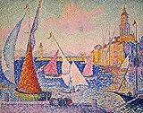 The Poster Corp Signac: St. Tropez Harbor. /Noil On Canvas 1899 By Paul Signac. Fine Art Print (45.72 x 60.96 cm)