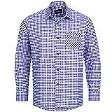 Bongossi-Trade Pantaloni Camicia per Lederhosen Tradizionali Tempo Libero Camicia Viola a Quadretti Taglie S–XXXL Verde L