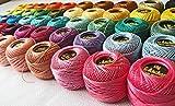 40Anchor Pearl algodón Crochet bolas. J & P tamaño 8(85metros cada) UK barco